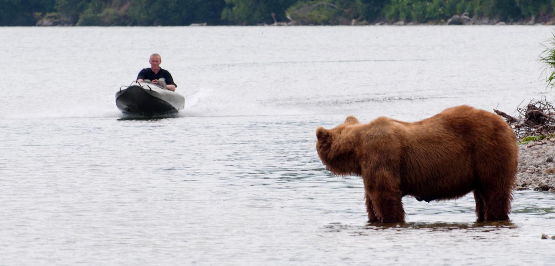 Mokai Boat and Bear in Kamchatka