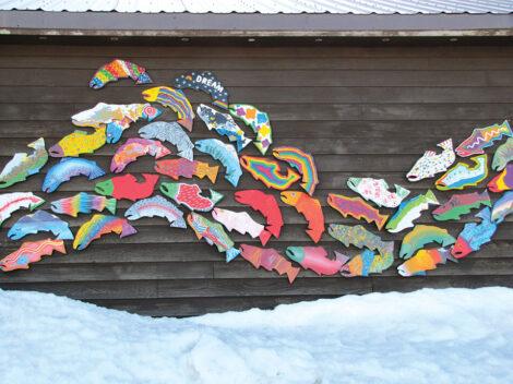 Dillingham Alaska Salmon Mural