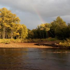 River in Russia's Sakhalin Region