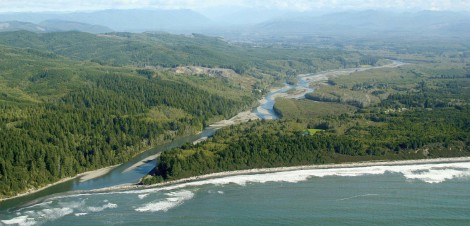 The Hoh River, located on Washington's Olympic Peninsula