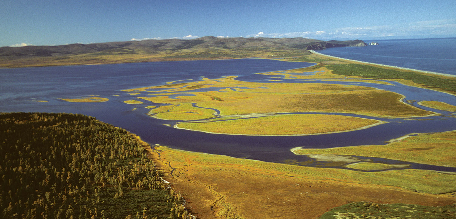Aerial view of Shantar Islands National Park, Russia