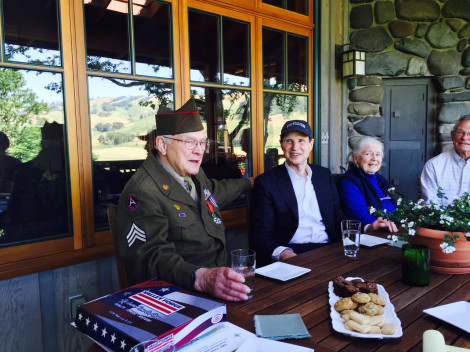 Frank Moore, Senator Ron Wyden and Jeanne Moore