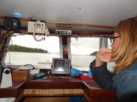 SkeenaWild's Quinn Barabash during the Lelu Island occupation to protect the Skeena