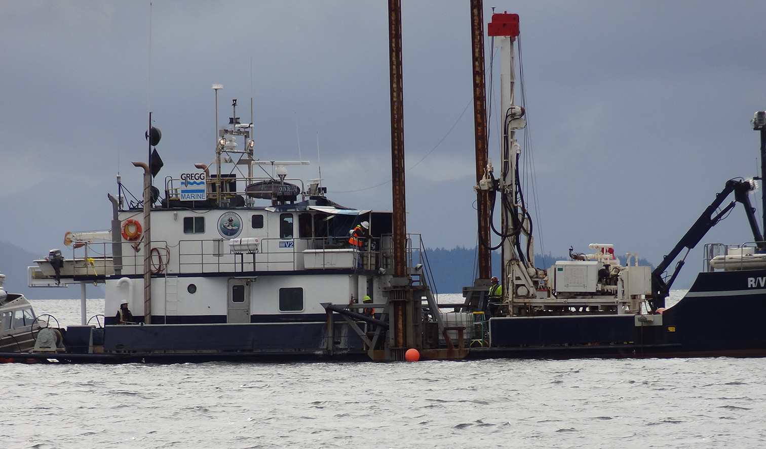 LNG vessel collects data for a proposed controversial plan near the Skeena River