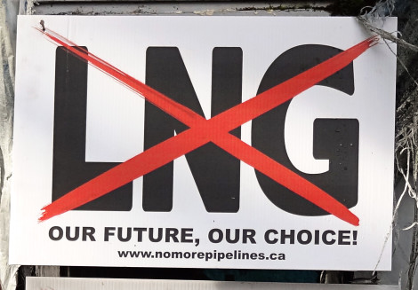 Lelu Occupation No LNG sign
