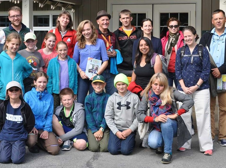 WSC staff and Trailside Discovery Camp participants during the International Conservation Education Exchange