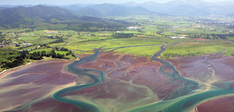 Tillamook floodplain on the Oregon Coast.
