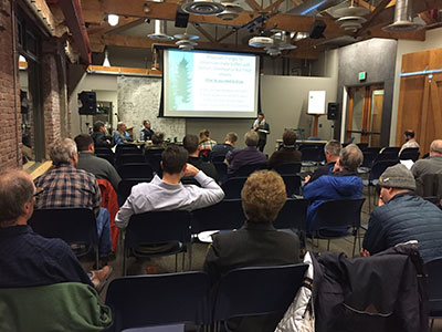 Oregonians provide testimony at the Board of Forestry meeting in Portland in support of increased stream protections.